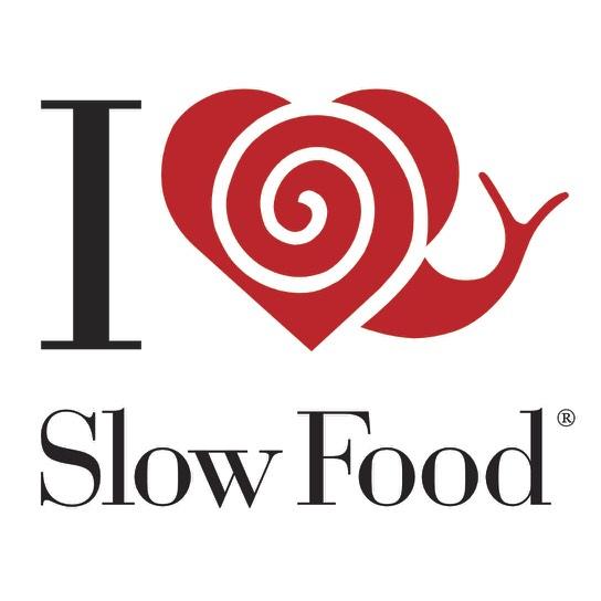 i love slow food sticker 2